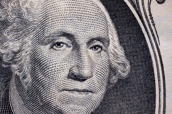 Free stock photo Close up of engraved portrait of George Washington