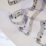 Free stock photo Wrinkled sheet of classical music