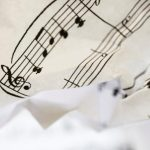 Free stock photo Wrinkled sheet of music