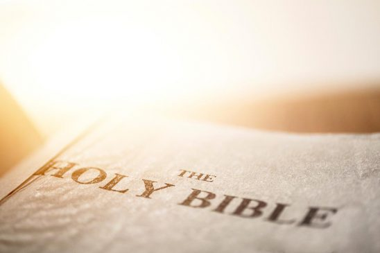 Free stock photo Open bible with title