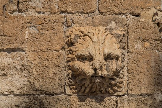 Free stock photo Carved head of a lion decoration on the Cathedral of Almeria, Spain