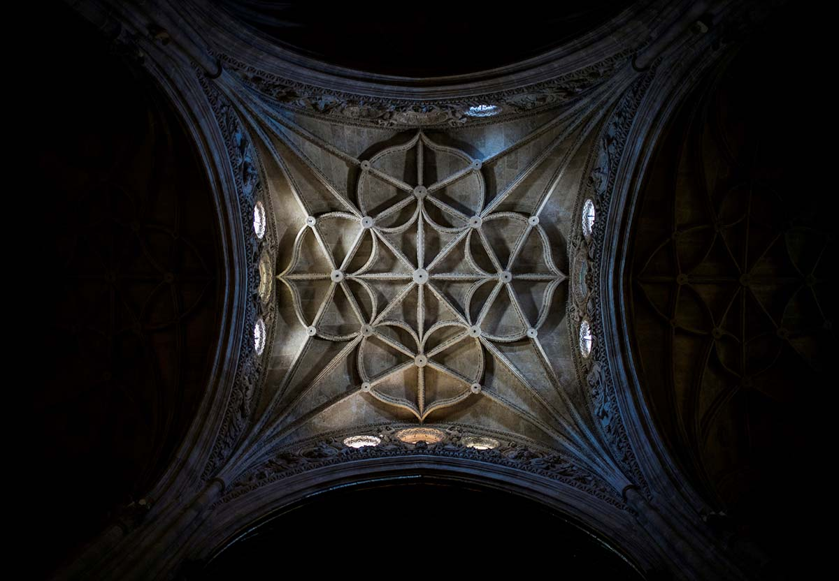 Free stock photo Vault ceiling decoration Cathedral of Almeria