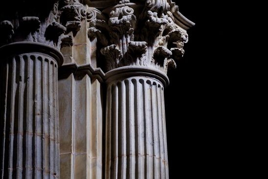 Free stock photo Corinthian columns inside the Santa Iglesia Cathedral, Cadiz, Spain