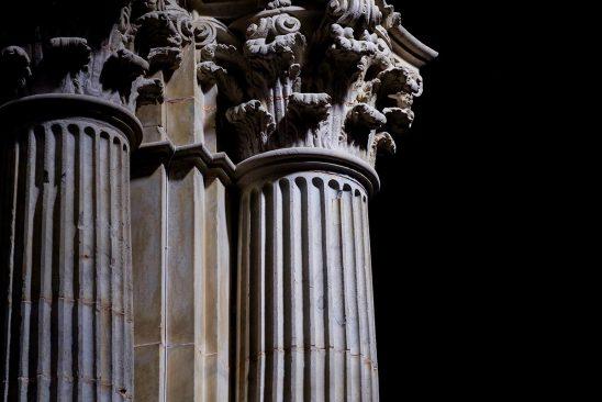 Free stock photo Corinthian columns inside the Santa Iglesia Cathedral, Cadiz, Spain