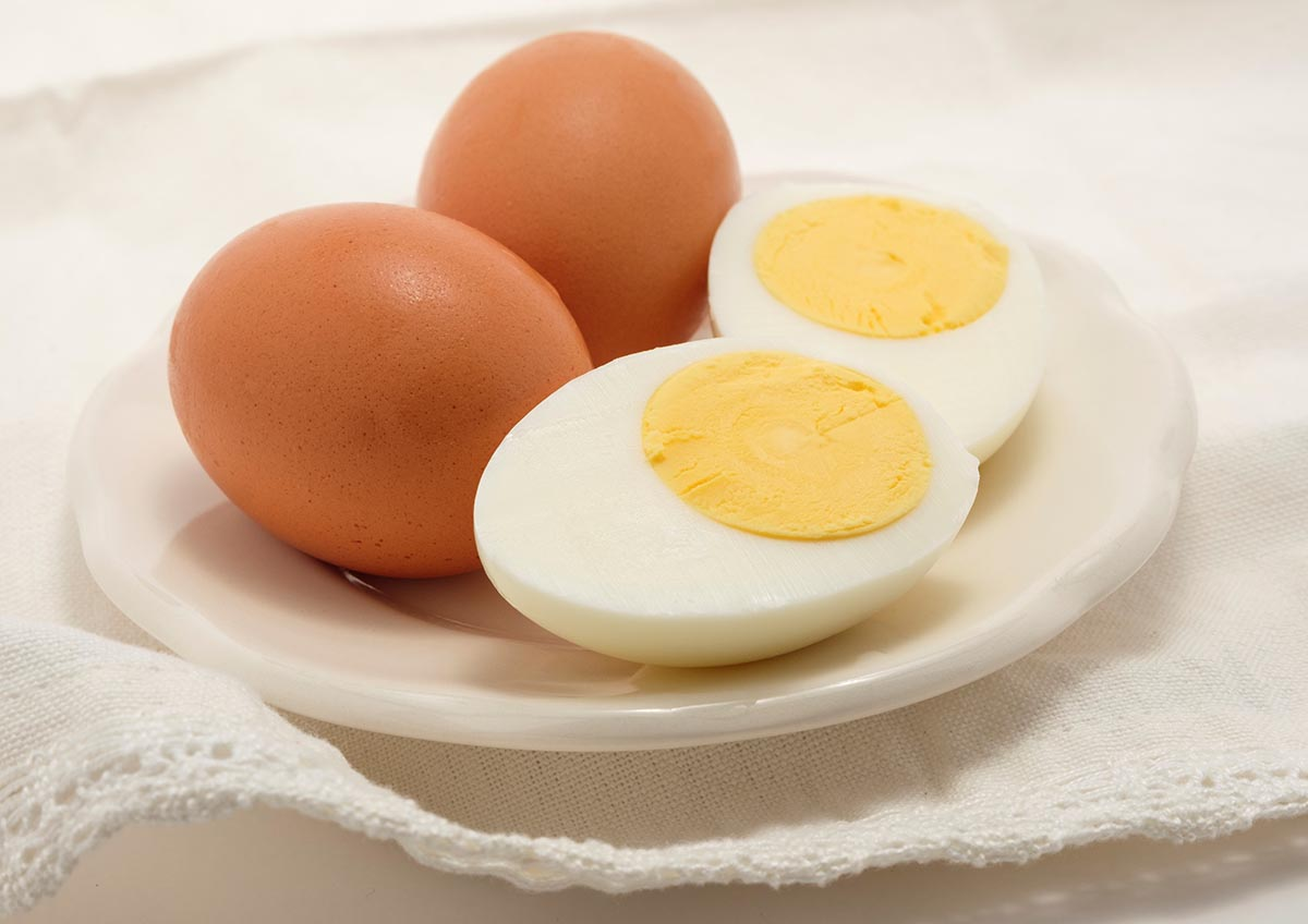 Free stock photo Hard boiled brown eggs on a plate