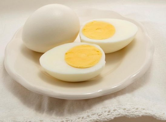 Free stock photo Hard boiled eggs on a white plate