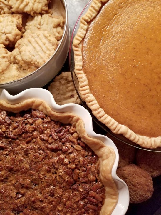 Free stock photo Homemade Pumpkin and pecan pies with cookies