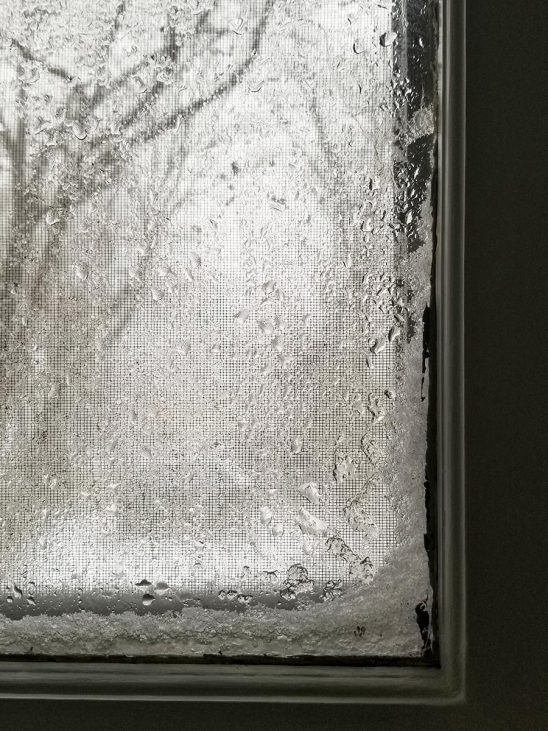 Free stock photo Window with snow, rain, and ice