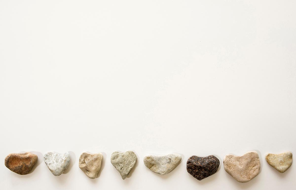 Free stock photo Border of heart shaped stones
