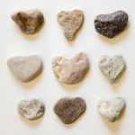 Free stock photo Grid pattern of nine heart shaped stones