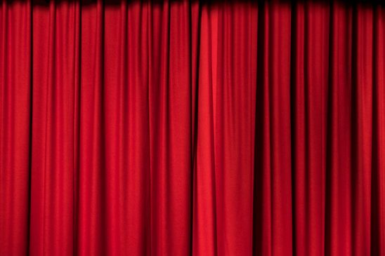 Free stock photo Red stage curtain in a theater