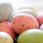 Free stock photo A group of pastel colored Easter eggs