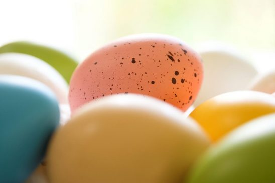 Free stock photo A group of colorfully decorated Easter eggs