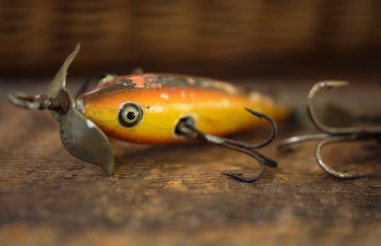 Free stock photo Close up of an old fishing lure
