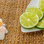 Free stock photo Plate of lime slices and seashells