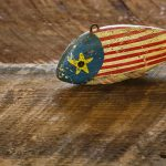Free stock photo Antique fish decoy painted like American flag