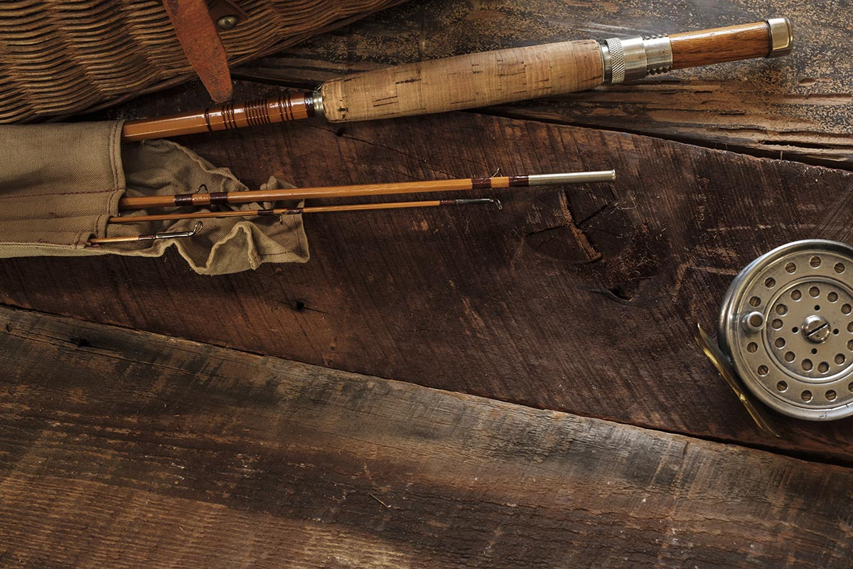 Free stock photo Antique fly fishing rod and reel
