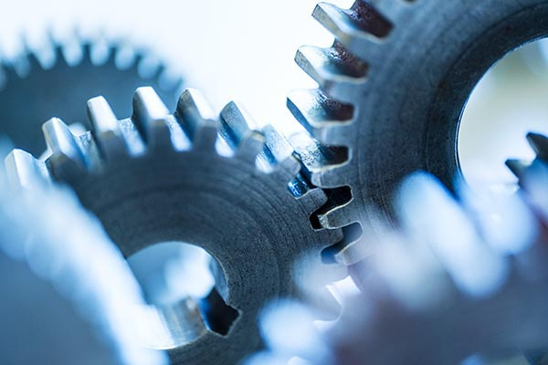 Free stock photo Close up of connected industrial gears