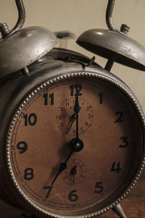 Free stock photo Old alarm clock with bells ringing in the morning