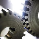 Free stock photo Two steel gears connected