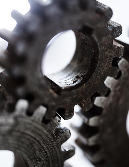 Free stock photo A group of gritty steel industrial gears