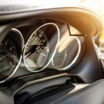 Free stock photo Automobile dashboard with sun flare