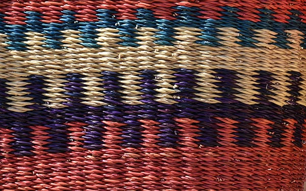 Free stock photo Full frame of a colorful woven basket pattern