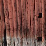 Free stock photo Old red barn wood door and hinges