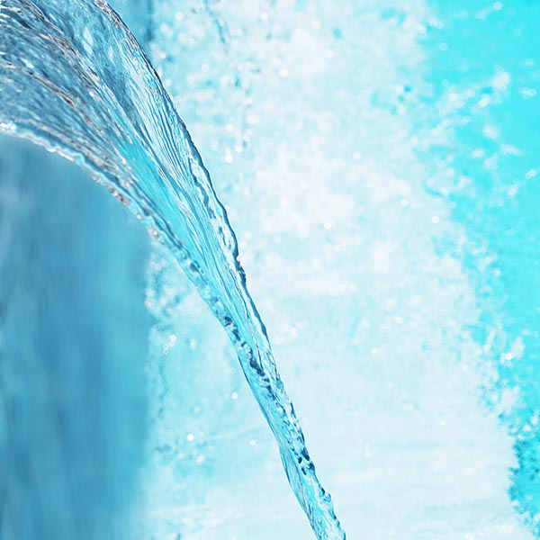 Free stock photo Water pouring against an aqua background