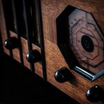 Free stock photo Close up of a vintage wooden radio