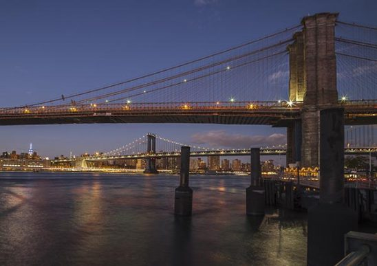 Free stock photo Brooklyn Bridge and Manhattan seen from Brooklyn