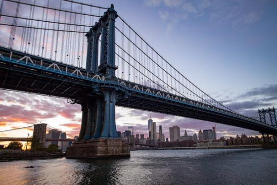 Free stock photo Manhattan Bridge with lower Manhattan and the East River