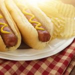Free stock photo Close-up of hot dogs served in plate