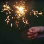 Free stock photo Close-up of hand holding sparkler