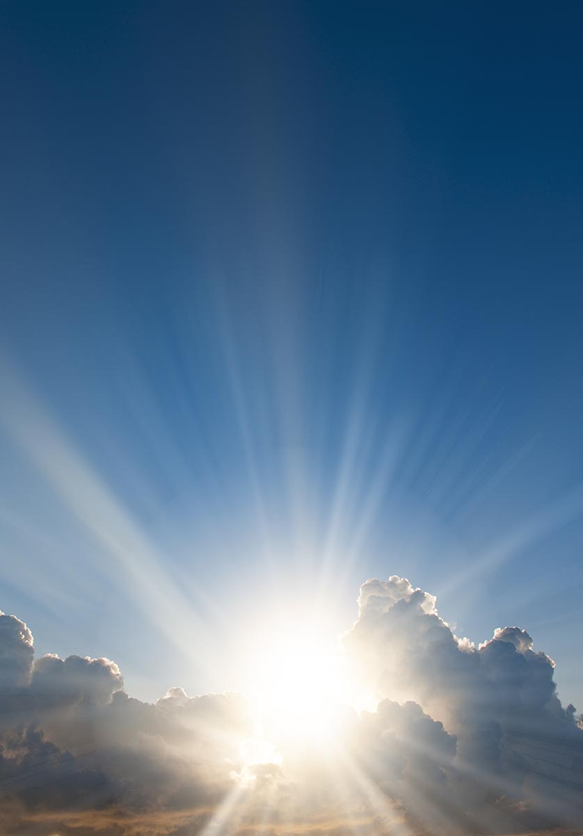 Free stock photo Sun bursting through clouds