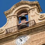 Free stock photo Close up of the bell tower of the Cathedral of Alemeria, Spain