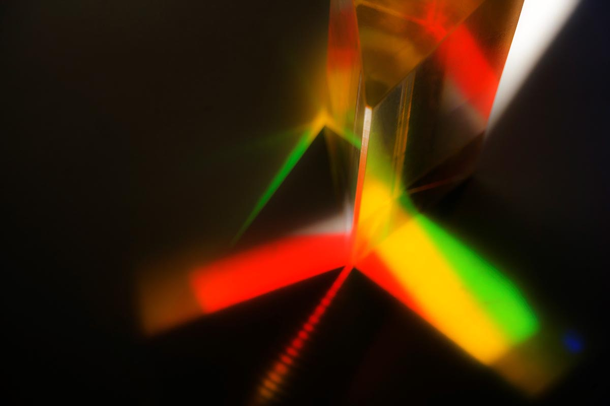 Free stock photo Color pattern refracted through a prism