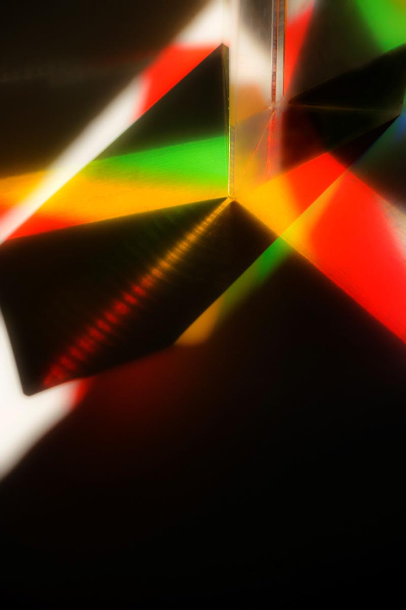 Free stock photo Abstract pattern of colors with a prism