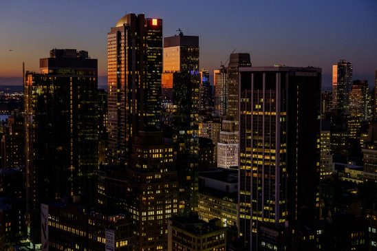 Free stock photo Midtown New York City at dusk