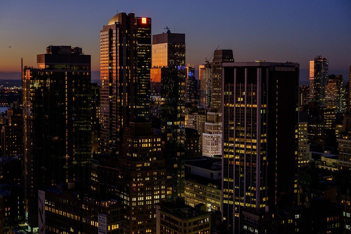 Free stock photo Midtown New York City at dusk