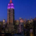 Free stock photo Empire State building and city at night