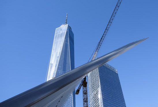 Free stock photo World Trade Center and the Oculus with construction crane