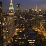 Free stock photo View of lower Manhattan at night