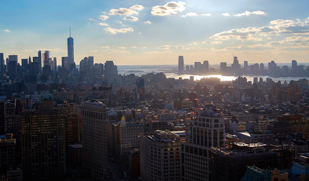 Free stock photo View of lower Manhattan and New Jersey on a sunny day