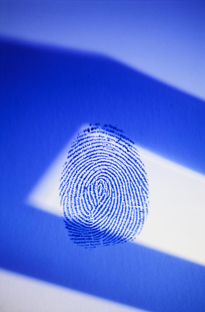 Free stock photo Large fingerprint against an abstract background