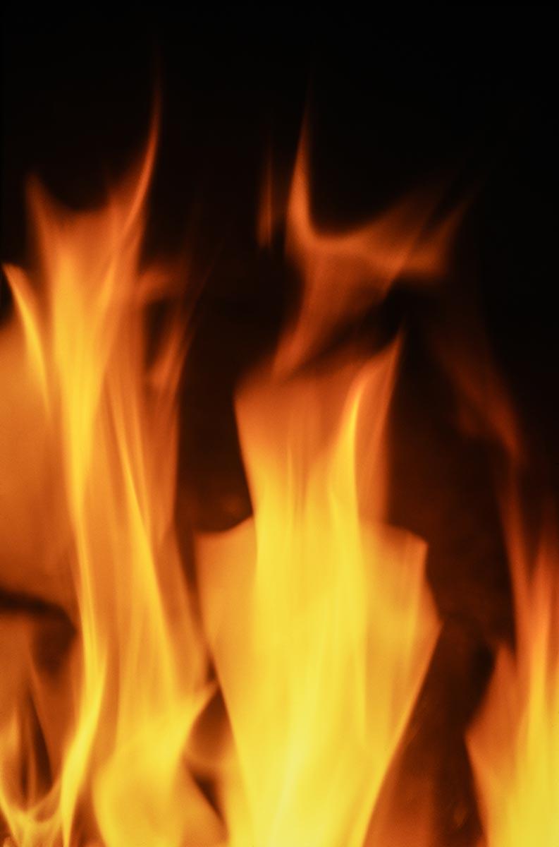Free stock photo Backrgound of orange flames against a black background