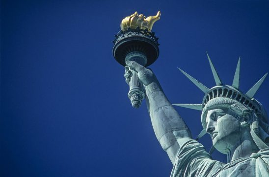 Free stock photo Horizontal background with a close up of the Statue of Liberty