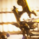 Free stock photo Defocus background shot of an antique brass microscope in a laboratory
