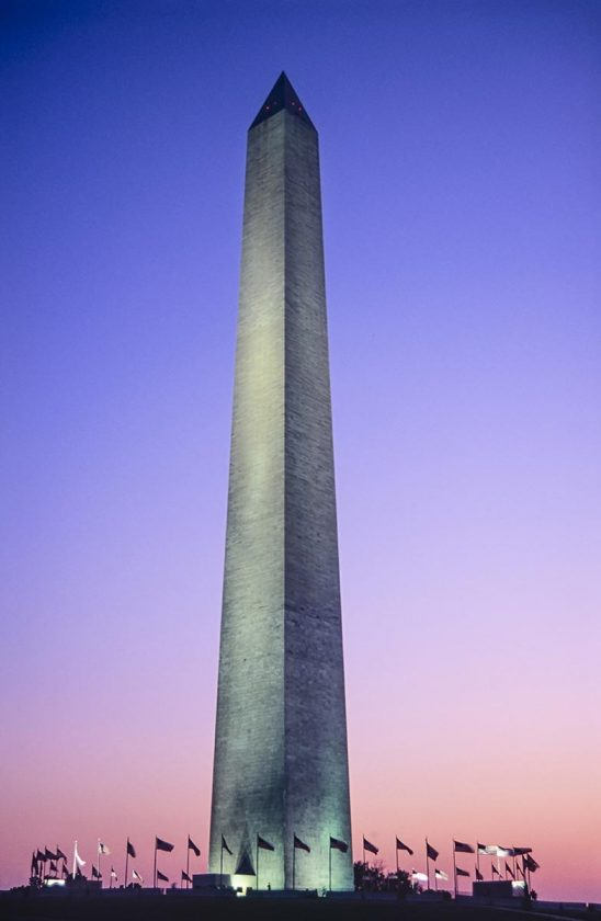 Free stock photo Washington monument at dusk in Washington, DC