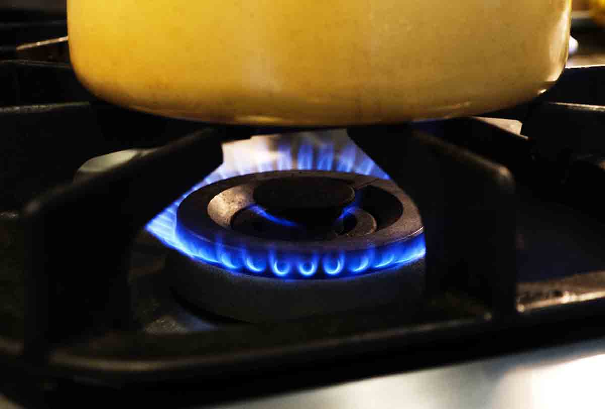Free stock photo Close-up of stove top gas burner